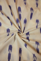 White with Arrows Handwoven Ikat Fabric