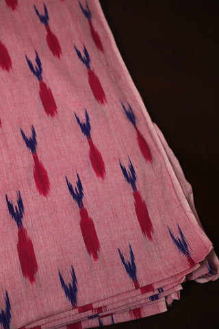 Light Pink Handwoven Ikat Cotton Fabric