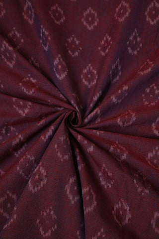 Double Shade Purplish Maroon Handwoven Ikat Fabric