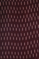 Double Lines in Blackish Red Handwoven Ikat Fabric