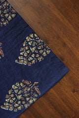 Intricate Leaves Block Printed Cotton Fabric