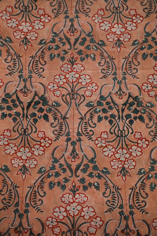 Floral Block Printed Sanganeri Cotton Fabric