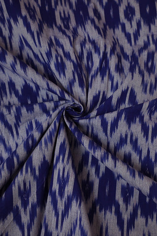 Ink Blue Handwoven Ikat Fabric