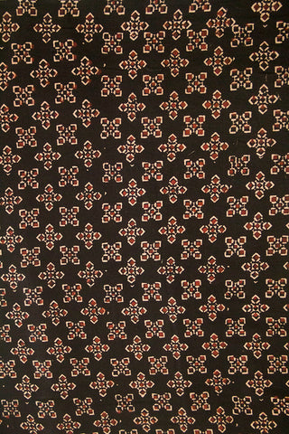 5 Squares - Black Ajrak Cotton Fabric