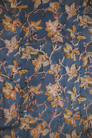 Faded Blue Mul Cotton Sanganeri fabric