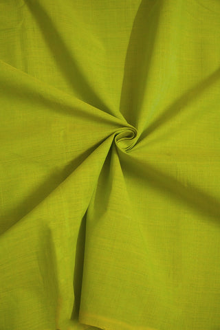 Light Green Handwoven Mangalagiri Cotton Fabric-0.5m