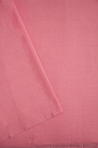 Light Pink Yarn Dyed Handwoven Cotton Fabric-1 m