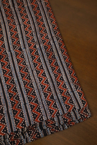 Ajrak Block Printed Cotton Fabric-2.2 m