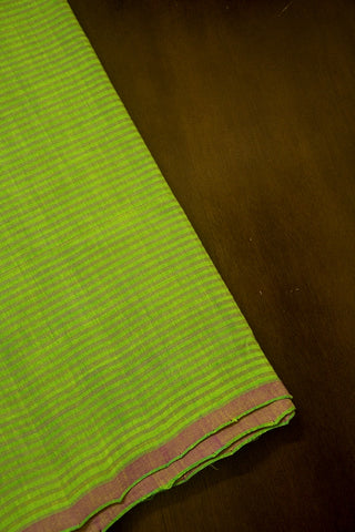 Light Green Handwoven Mangalagiri Cotton Fabric-1.5m
