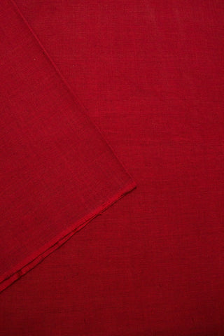 Reddish Maroon Yarn Dyed Handwoven Cotton Fabric