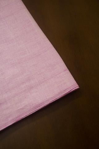 Light Lavender Yarn Dyed Handwoven Cotton Fabric