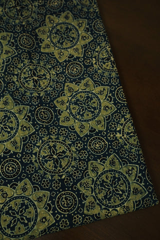 Block Printed Ajrak Cotton Fabric