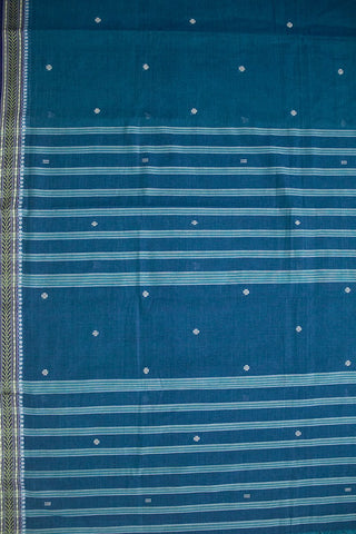Double shade blue Bengal Cotton Handwoven Saree