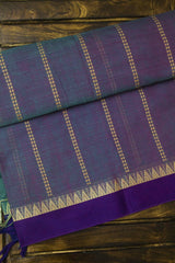 Double shade Handwoven Mercerized cotton Saree