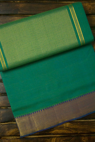 Double shade Green with blue  Mangalagiri Cotton Saree
