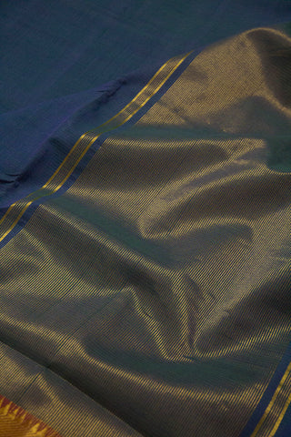 Missing Weave Blue with pink Mangalagiri Cotton Saree