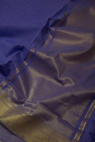 Blue Handwoven Mangalagiri Cotton Saree