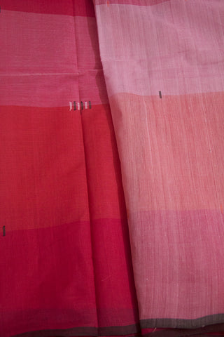 Pink with Peach Handwoven Cotton Saree