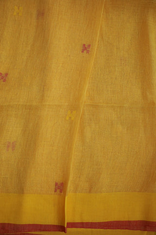 Light Yellow with Pink Linen Jamdani Saree