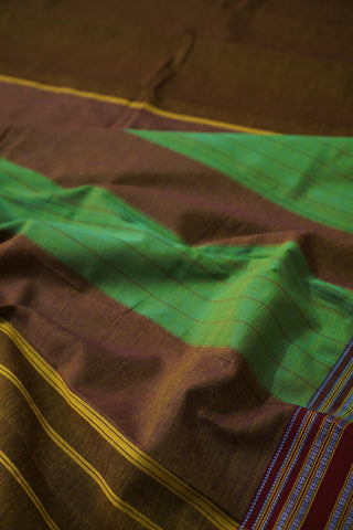 Honey Brown Ilkal Cotton Saree