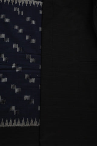 Dark Navy Blue Handwoven Orissa Ikat Saree