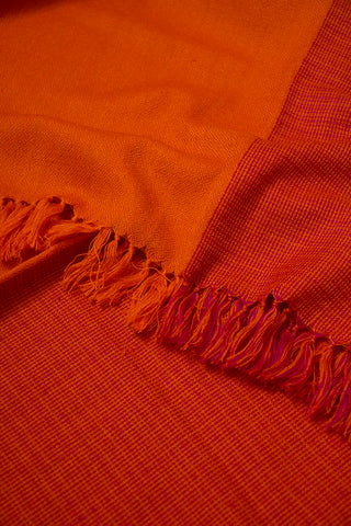 Orange with Purple Woolen Stole