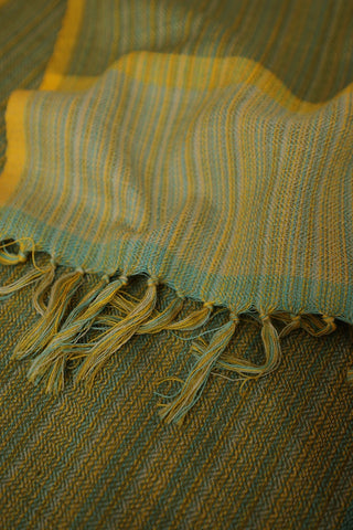 Green and Yellow Woolen Scarf