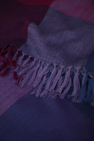 Shades of Blue and Purple Woolen Stole