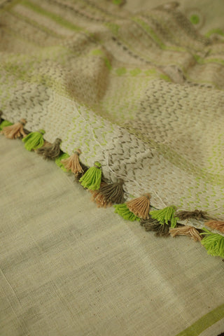 Lambani Embroidered Handspun Handwoven Cotton Stole
