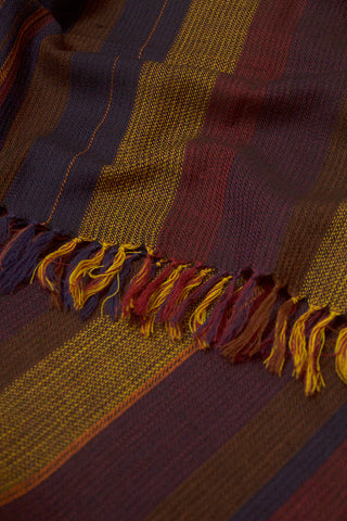 Multi Colour Handwoven Woolen Stole