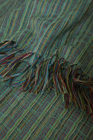 Multi Colour Thread Woolen Scarf