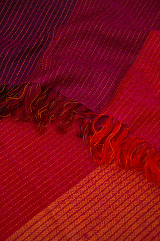 Purple with Red Handwoven Woolen Stole