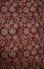 Flower Collage - Block Printed Kalamkari Fabric