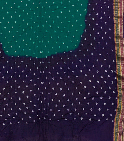 Navy Blue Tie and Dye Bandhani Saree