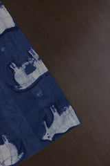 Indigo Dabu Printed Cotton Fabric-0.6 m