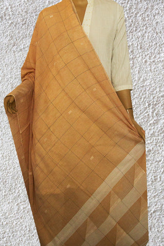 Brown Bengal Jamdani Fine Cotton Dupatta