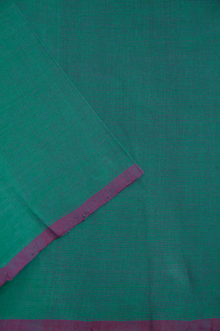 Double shade Ramar Blue Handwoven Plain Cotton Fabric