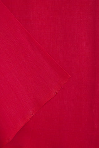 Dark Pink Handwoven Plain Cotton Fabric