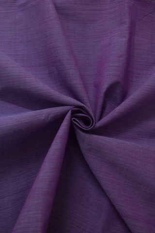 Double shade Purple Handwoven Plain Cotton Fabric