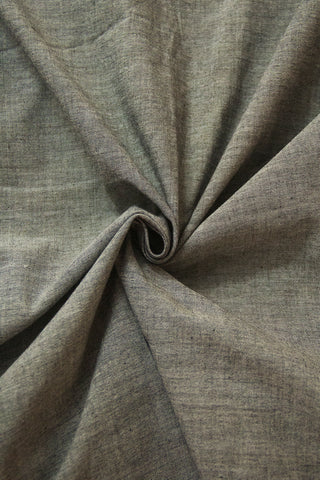 Grey Yarn Dyed Handwoven Cotton Fabric