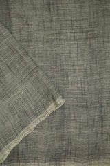 Grey Handwoven Slub Cotton Fabric