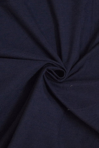 Dark Blue Yarn Dyed Handwoven Cotton Fabric-1 m