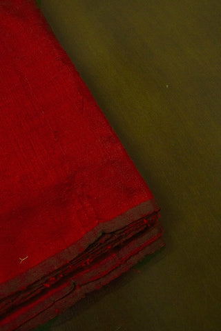 Maroon Handwoven Raw Silk Fabric