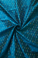 Double shade blue Handwoven Ikat Silk Fabric