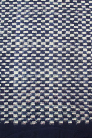 Blue Close checks Japanese Pattern Ikat
