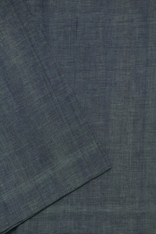 Blue Natural Dyed Textured Khadi Fabric