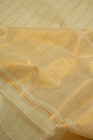 White with Zari Checks Mangalagiri Cotton Saree