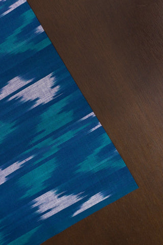 Abstract Patterns - Blue Handwoven Ikat Cotton Fabric