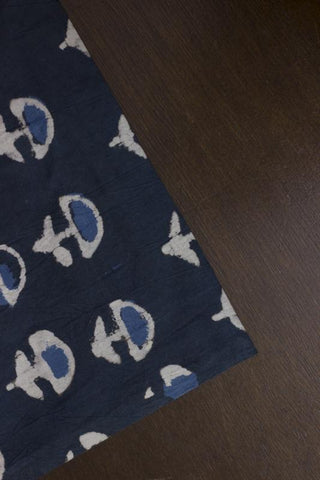 Indigo Bagru Block Printed Cotton Fabric