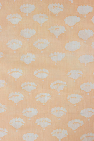 Buds in Peach - Batik work Organic Handwoven Cotton